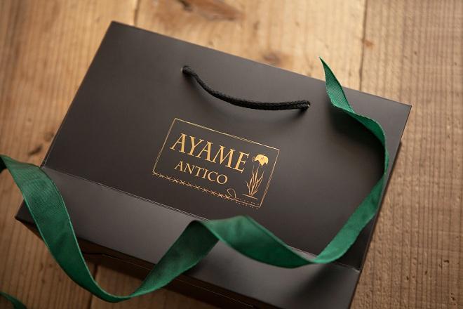 アヤメアンティーコのプレゼント用リボンと袋