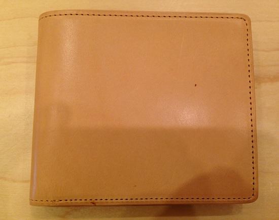 ココマイスター・パティーナ二つ折り財布(ナチュラル)