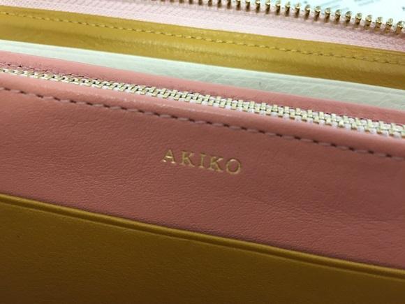joggoの財布の名前の刻印