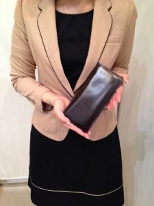 ココマイスター・社員の財布「コードバン薄型長財布」