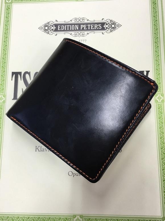 GLENCHECK(グレンチェック)ブライドルレザー二つ折り財布