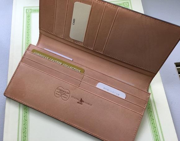 GLENCHECK(グレンチェック)コードバン長財布の内装