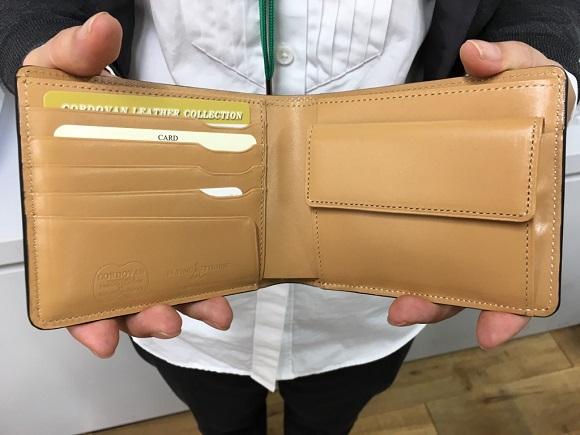 GLENCHECK(グレンチェック)コードバン FLYING HORSE 二つ折り財布の内装