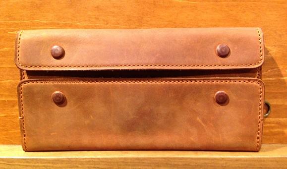 cocomeisterの長財布「ナポレオンカーフアレクサンダーウォレット」ブランデー