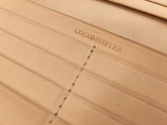 ココマイスター・マットーネオリヴェートウォレットの刻印