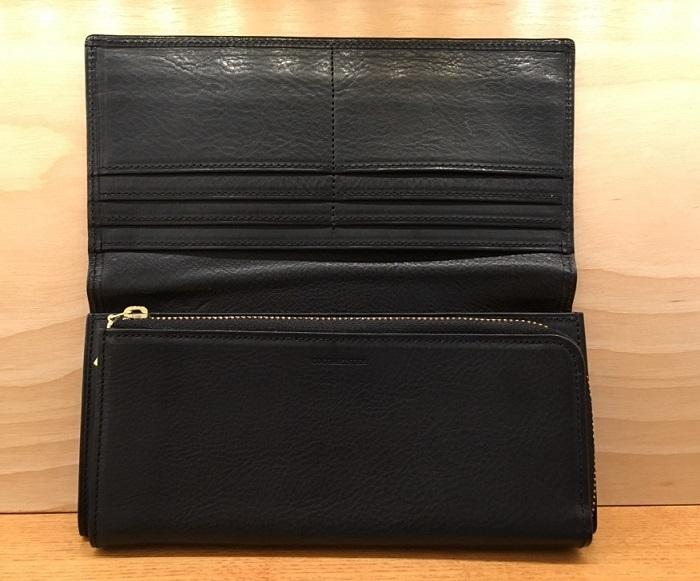 ココマイスターの長財布・マルティーニオーモンドウォレットの内装