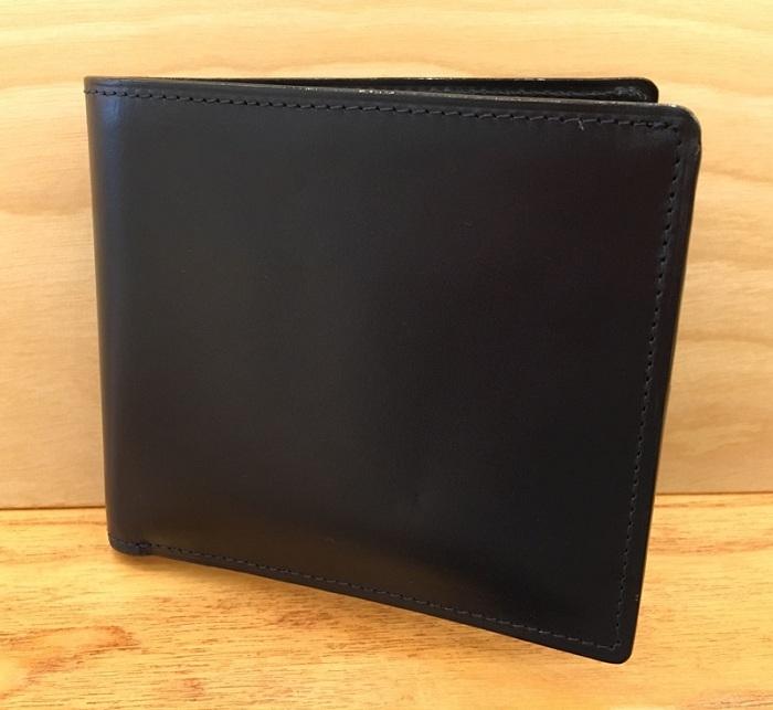 ココマイスターの二つ折り財布・ジョージブライドルブライアンズパース(ダークネイビー)