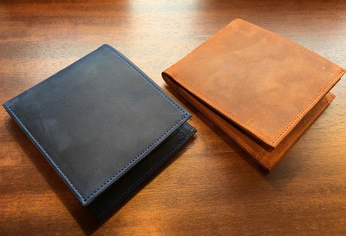 ココマイスターの二つ折り財布・ナポレオンカーフボナパルトパース