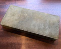 ココマイスターの長財布・ナポレオンカーフアレッジドウォレット(オリーブ)
