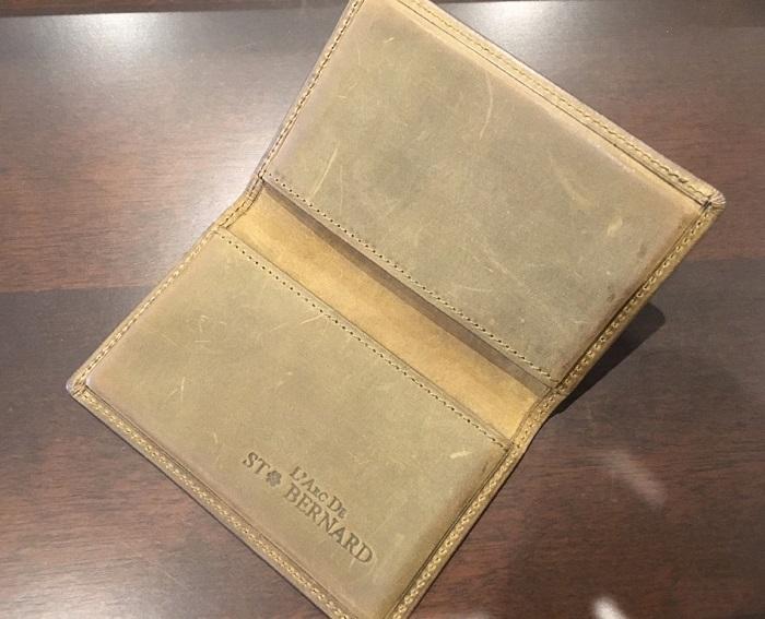 ココマイスターの名刺入れ・ナポレオンカーフボナパルト名刺入れの内装