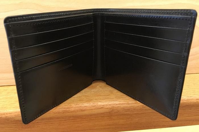 ココマイスターの二つ折り財布・ジョージブライドルブライアンズパースの内装
