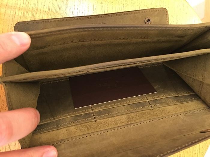 ココマイスターの長財布・ナポレオンカーフアレクサンダーウォレットの内装