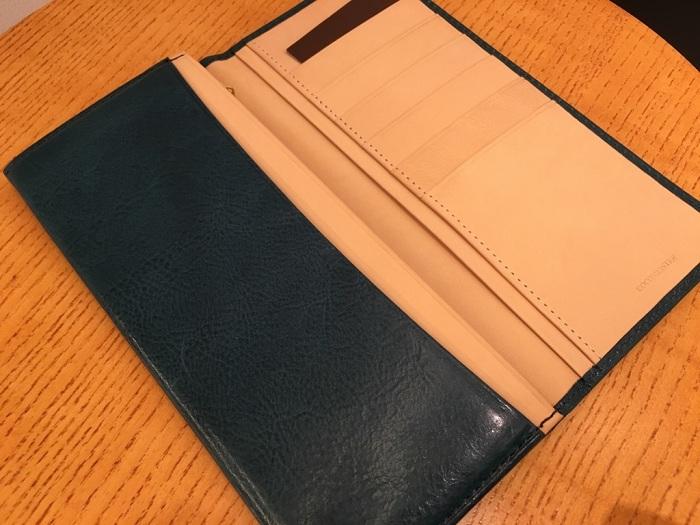 ココマイスターの長財布・マットーネマルチウォレットの内装