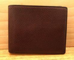 ココマイスターの二つ折り財布・マルティーニアーバンパース(ビターチョコ)