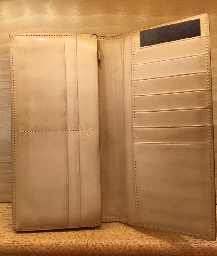 ココマイスターの長財布・ブライドルアルフレートウォレットの内装