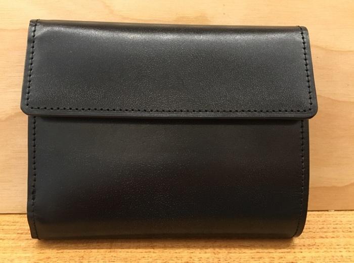 ココマイスターの三つ折り財布・ジョージブライドルロベルトパース(ダークネイビー)
