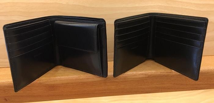 ココマイスターの二つ折り財布・ジョージブライドルブライアンズパースとジョージブライドルバイアリーパースの内装、小銭入れ部分