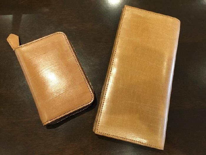 オークバークウェスターリー(ココマイスターの長財布)とオークバークパッチウェイ(ココマイスターの小銭入れ)