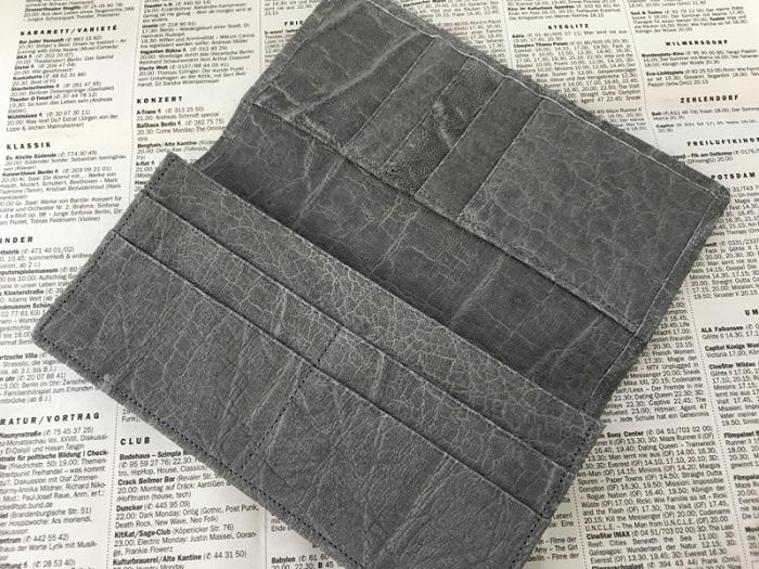 夢を叶える開運の象 長財布の内装部分