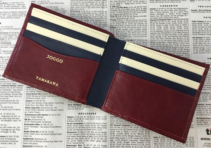 JOGGO・二つ折り財布の内側
