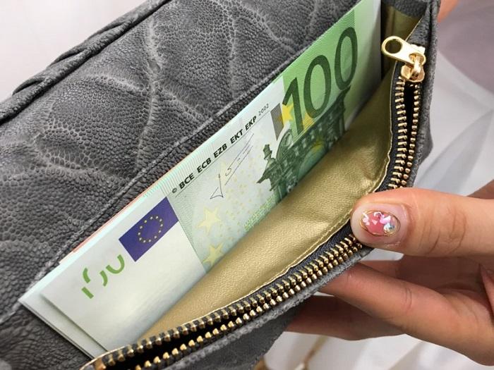 夢を叶える開運の象 200万円入る財布の内装