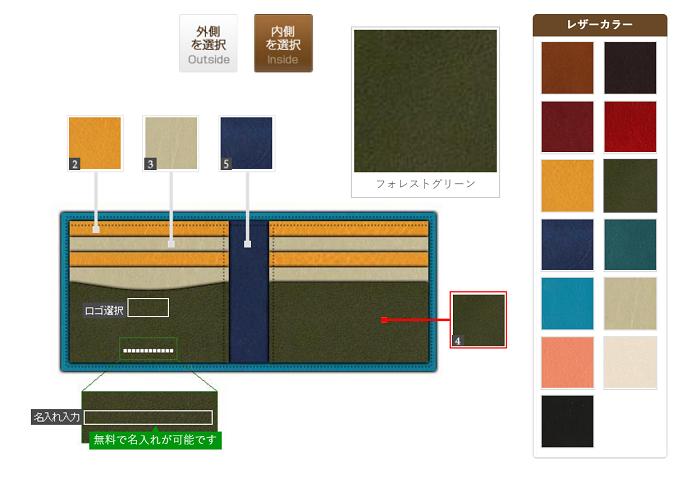 JOGGOの二つ折り財布のカスタムオーダー