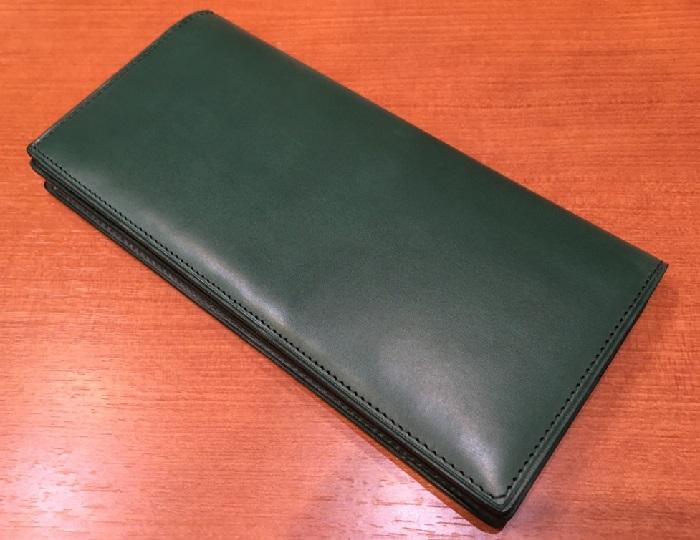 ココマイスターの長財布、プルキャラック ロンバルディアの銀面