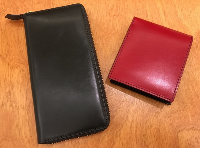ココマイスターの二つ折り財布・ロンドンブライドル パースファントムと、長財布・ロンドンブライドル グラディアトゥール