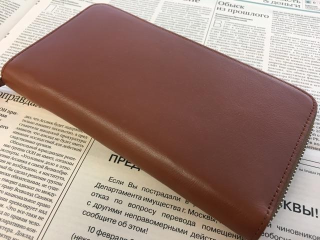 Business Leather Factoryの長財布(ラウンドファスナー)