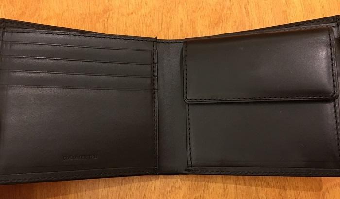 ココマイスターの二つ折り財布・パティーナ二つ折り財布の内部