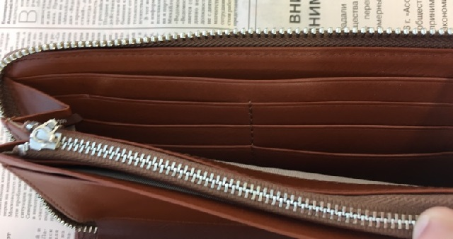 Business Leather Factoryの長財布(ラウンドファスナー)の札入れ部分のカードポケット