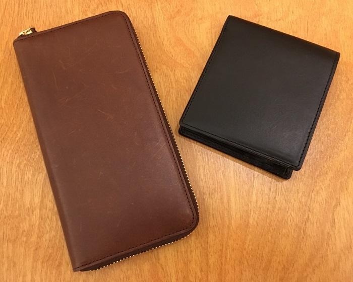 ココマイスターの二つ折り財布・パティーナ二つ折り財布と長財布・パティーナラウンドファスナー