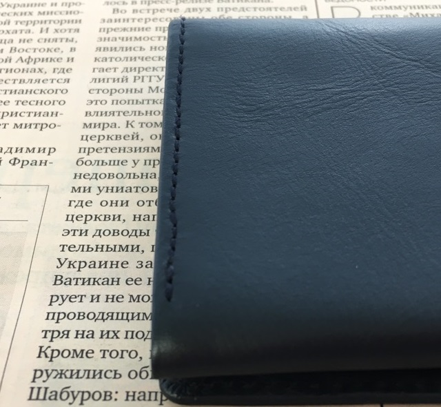 Business Leather Factoryの名刺入れの縫製