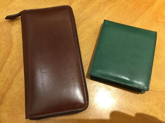 ココマイスターの二つ折り財布・プルキャラックパルテノーペと長財布のプルキャラッククラウディオ