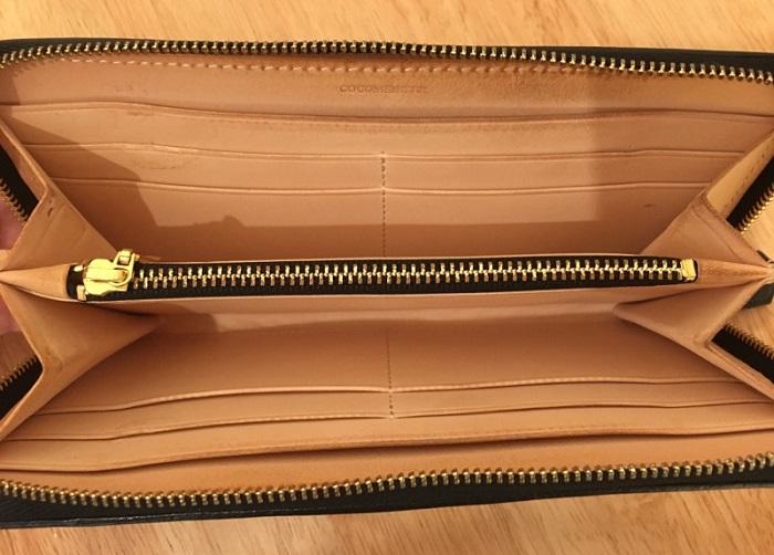 マットーネオーバーザウォレットの内装・ココマイスターの長財布