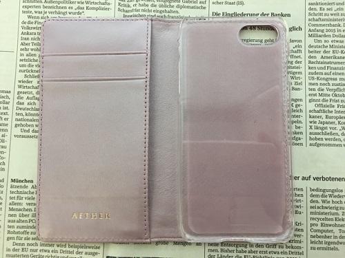 AETHER(エーテル)のiPhoneケース、カウスエードiPhoneケース サクラ・シェリー