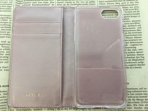 AETHER(エーテル)のiPhoneケース、エナメル本革iPhoneケースフルール・シェリー