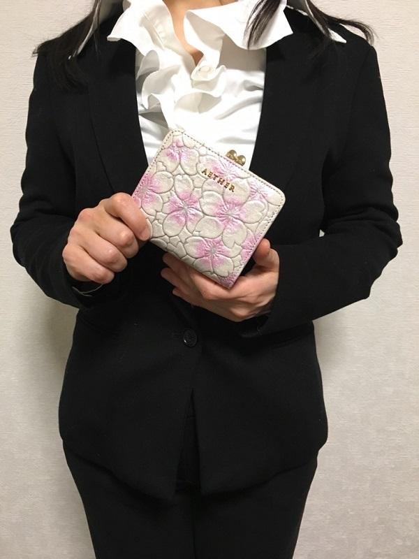 エーテル・AETHERの折り畳み、がま口財布