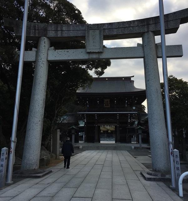 宮地嶽神社の鳥居(福岡県福津市宮司元町7-1)