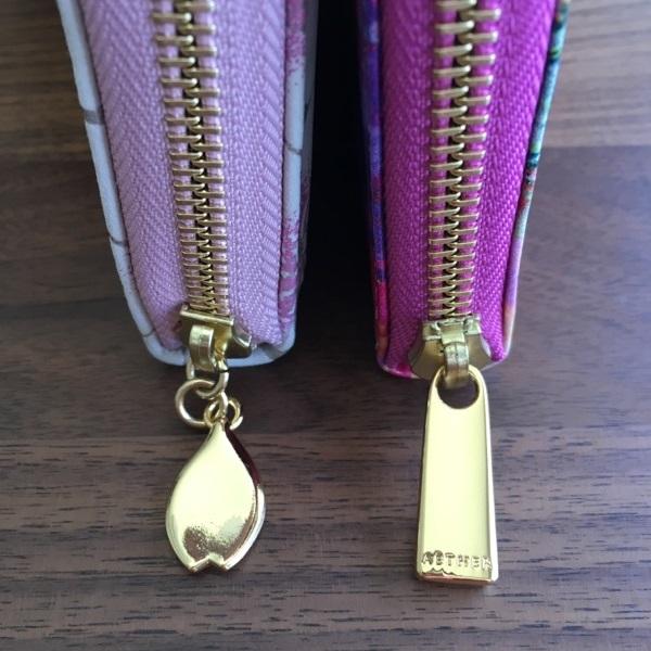 エーテル・AETHERの財布、サクラシリーズのチャーム・金具