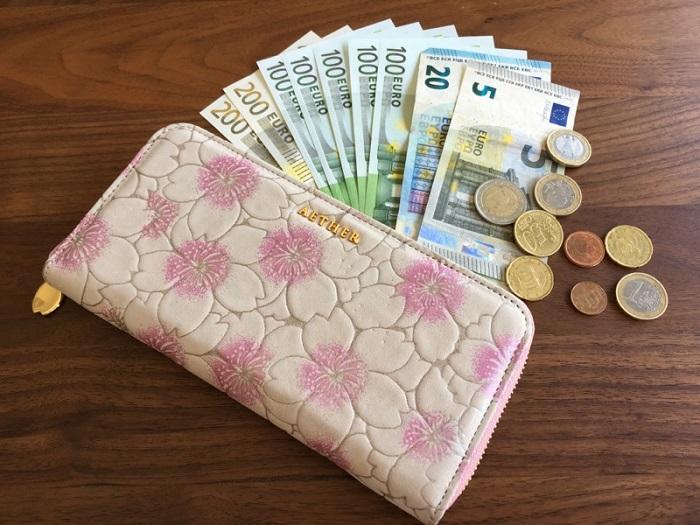 エーテル・AETHERの財布、サクラ・ブーケとユーロ