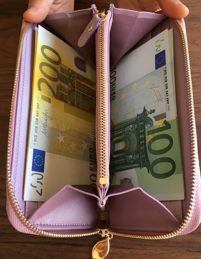 エーテル・AETHERの財布、サクラ・ブーケの札入れ