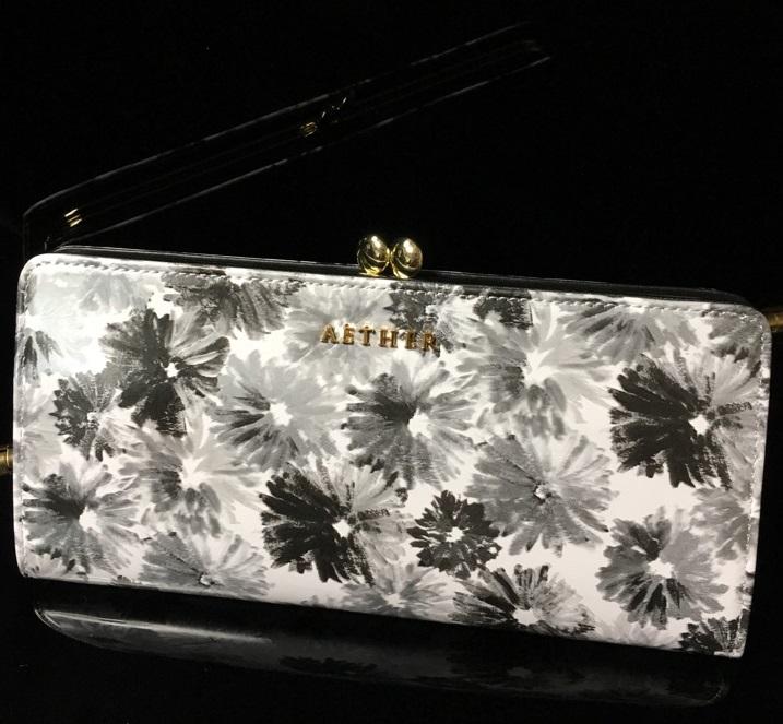 エーテル・AETHERの財布、がま口長財布 ノワール・アネット