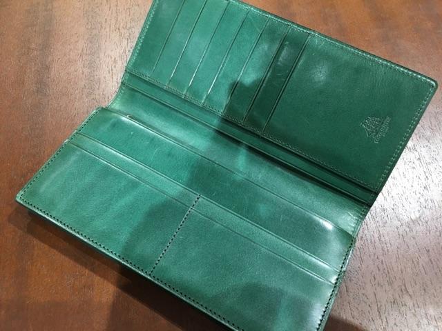 プルキャラックロンバルディア・ココマイスターの長財布の内装
