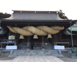 宮地嶽神社の拝殿と注連縄