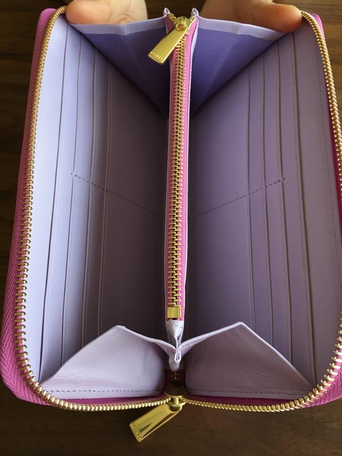 エーテル・AETHERの財布、パンセ・ブーケの内装、カードポケット