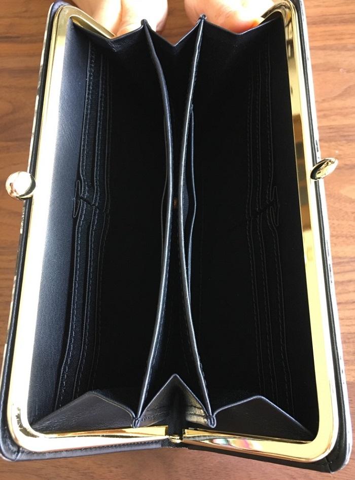 エーテル・AETHERの財布、がま口長財布 ノワール・アネットの内装