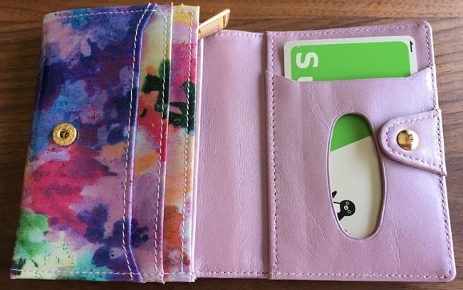エーテル・AETHERの財布、フルール・ジュールのパスケース部分