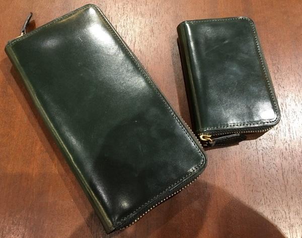ココマイスターの長財布・ロンドンブライドル グラディアトゥールと小銭入れ・ロンドンブライドルショットオーヴァー