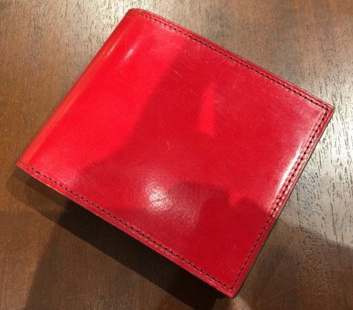 ココマイスターの2つ折り財布・ロンドンブライドル パースファントム〈アルバートレッド)